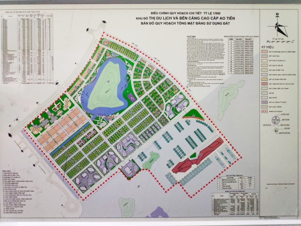 mặt bằng quy hoạch khu đô thị ao tiên vân đồn