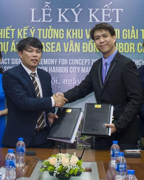 Ông Cao Văn Kiên – TGĐ Công ty CP Đầu tư và Phát triển du lịch Vân Đồn, đại diện Tập đoàn CEO ký kết hợp tác cùng Swan & Maclaren